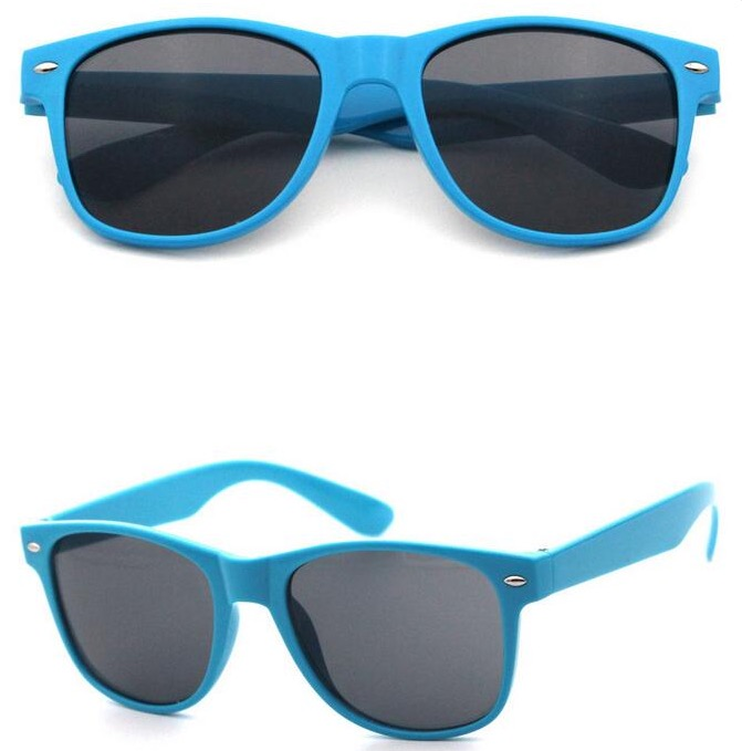 Light blue wayfarer sunglasses