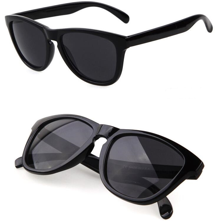 Black frogskin style sunglasses